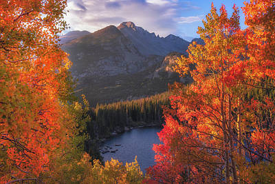 Comedian Drawings Rights Managed Images - Rocky Mountain Autumn Royalty-Free Image by Darren White