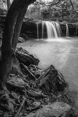 Royalty-Free and Rights-Managed Images - Rocky Shores At Falling Water Falls - Black and White Edition by Gregory Ballos