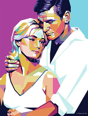Digital Art - Rod Taylor and Yvette Mimieux by Stars on Art