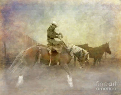 Animals Royalty-Free and Rights-Managed Images - Rodeo Horse Rider by Randy Steele