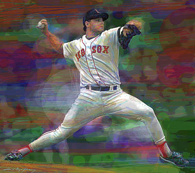 Thomas Kinkade - Roger Clemens The Rocket by David Lloyd Glover