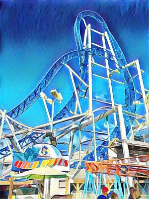 Surrealism Royalty-Free and Rights-Managed Images - Roller Coaster by Surreal Jersey Shore