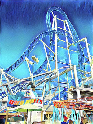 Surrealism Digital Art - Roller Coaster by Surreal Jersey Shore