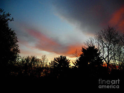 Frank J Casella Royalty-Free and Rights-Managed Images - Rolling Clouds Sunrise by Frank J Casella