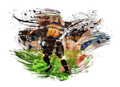 Sports Royalty-Free and Rights-Managed Images - Ronaldo Luis Nazario de Lima by All Sport Art