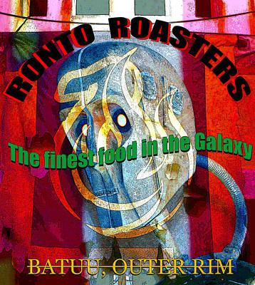 Mixed Media Royalty Free Images - Ronto Roasters poster work A Royalty-Free Image by David Lee Thompson
