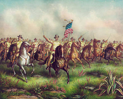 Michael Jackson - Roosevelt Leading The Rough Riders - Spanish American War by War Is Hell Store