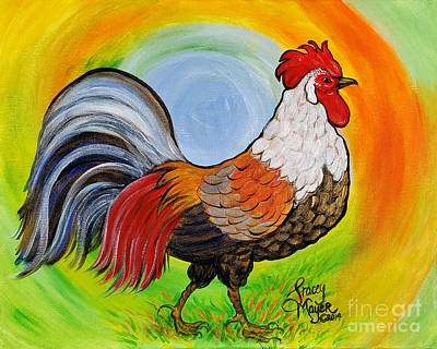 Abstract Graphics - Rooster Gold Saddle by Stacey Mayer