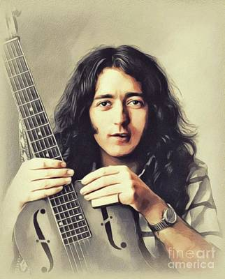 Music Paintings - Rory Gallagher, Music Legend by John Springfield