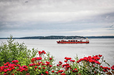 Lucille Ball - Rose Garden and Cargo Ship by Spencer McDonald