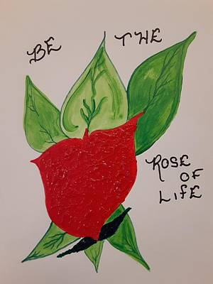 Popstar And Musician Paintings Royalty Free Images - Rose of Life Royalty-Free Image by Tina Marie Gill