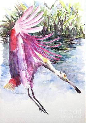 Painting - Roseate Spoonbill by Claudia Hafner