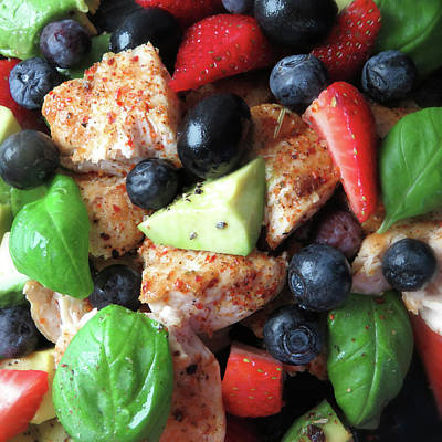 Wild Weather - Rosemary Chili Chicken With Avocado Olives And Berries by Johanna Hurmerinta