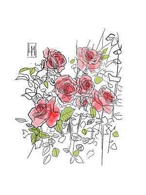 Farmhouse Rights Managed Images - Roses Royalty-Free Image by Luisa Millicent