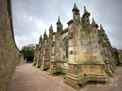 Fantasy Royalty-Free and Rights-Managed Images - Rosslyn Chapel Corner View 3 by Douglas Brown