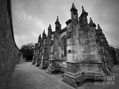 Curated Beach Towels - Rosslyn Chapel Corner View by Douglas Brown