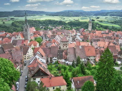 Thomas Kinkade Royalty Free Images - Rottweil Aerial View Royalty-Free Image by Anthony Dezenzio