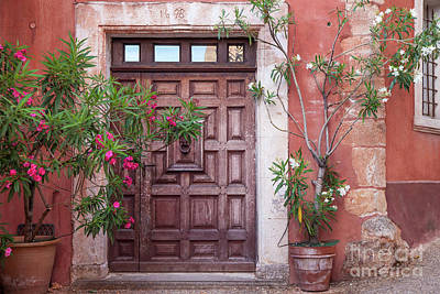 Queen Rights Managed Images - Roussillon Front Door Royalty-Free Image by Brian Jannsen