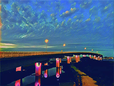 Surrealism Royalty-Free and Rights-Managed Images - Route 52 Causeway by Surreal Jersey Shore