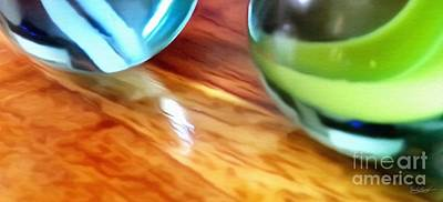 Mixed Media - Row of Marbles Snippet Three by Abbie Shores