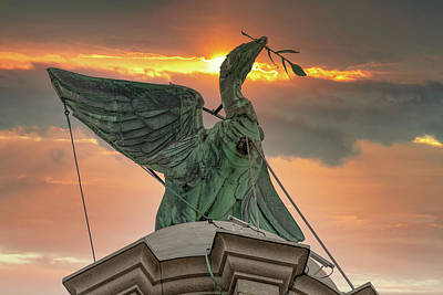 Photograph - Royal Liver Bird, Liverpool by David Wood