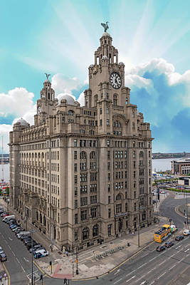 Photograph - Royal Liver Building, Liverpool by David Wood