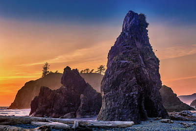 Uncle Sam Posters - Ruby Beach redux by Mike Penney