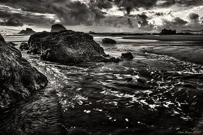A White Christmas Cityscape - Ruby Beach waves 803 by Mike Penney