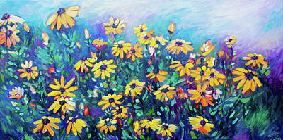 Painting - Rudbekia by Alison Newth