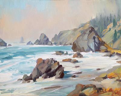 Outdoor Graphic Tees - Rugged Coastline by Steve Henderson