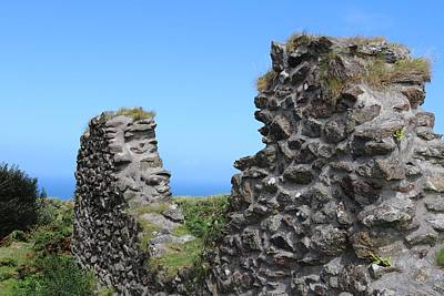 Wilderness Camping - Ruins of a Cornish Wall by Michaela Perryman