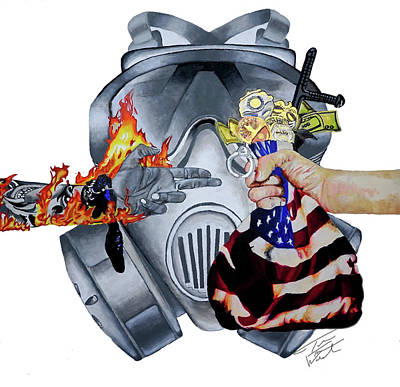 Painting - Run The Funds- Defund The Police by D Justin Johns