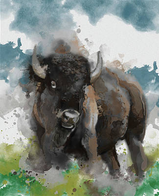 Everett Collection - Running Buffalo 2 by Bekim M