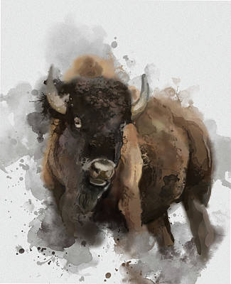 Everett Collection - Running Buffalo by Bekim M
