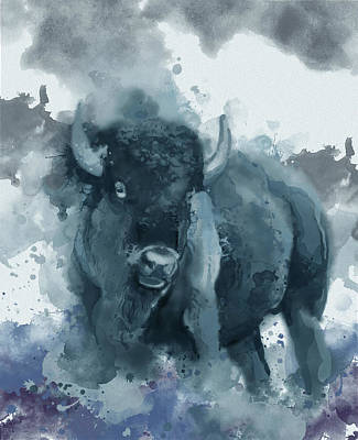 Everett Collection - Running Buffalo Blue by Bekim M