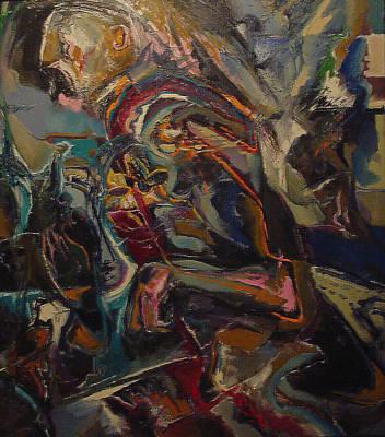 Painting - Running Man by Todd Krasovetz
