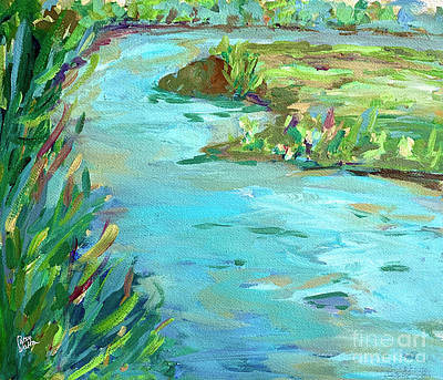 Painting - Running River by Patsy Walton