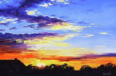 Modern Man Air Travel - Rural bush sunset by Graham Gercken
