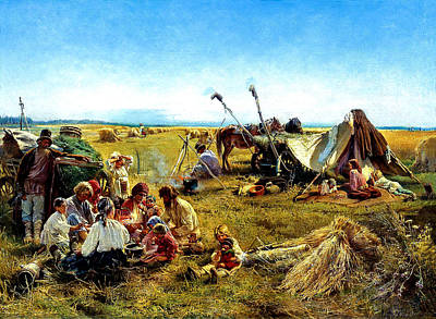 Bringing The Outdoors In - Rural life in Russia by Konstantin Yegorovich Makovsky by Artistic Rifki