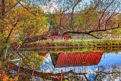 Roaring Red - Rural Reflections In Boxley Valley by Gregory Ballos