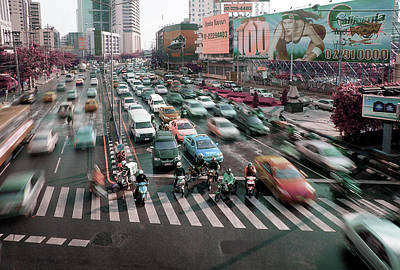 Surrealism Royalty Free Images - Rush hour in Bangkok - Surreal Art by Ahmet Asar Royalty-Free Image by Celestial Images