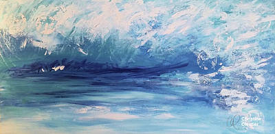 Painting - Rushing Waters by Christine Cloutier
