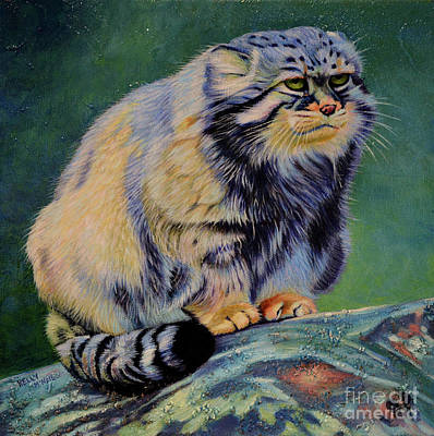 Painting - Russian Wild Cat by Kelly McNeil