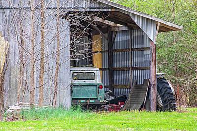 Ethereal - Rustic Barn with Derelict International Scout by Bob Decker