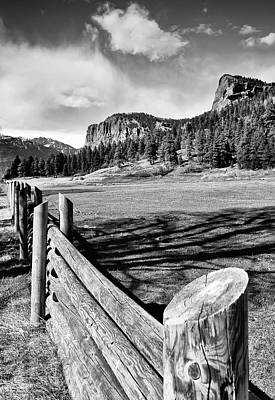 Landscapes Royalty-Free and Rights-Managed Images - Rustic Rural Colorado and Mountain Landscape - Monochrome Edition by Gregory Ballos
