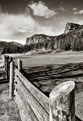 Landscapes Royalty-Free and Rights-Managed Images - Rustic Rural Colorado and Mountain Landscape - Sepia Edition by Gregory Ballos