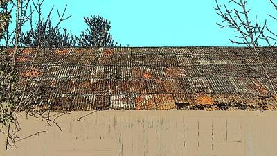 Jerry Sodorff Royalty-Free and Rights-Managed Images - Rusty Roof by Jerry Sodorff
