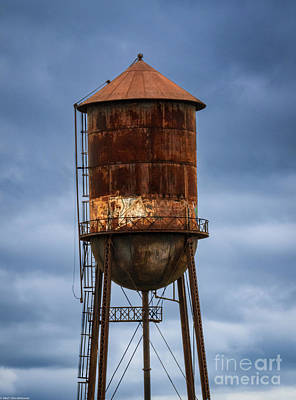 Classical Masterpiece Still Life Paintings - Rusty Water Tower by Mitch Shindelbower
