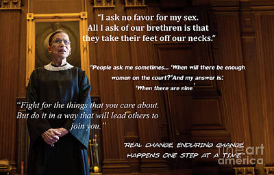 Rights Managed Images - Ruth Bader Ginsburg - Quotes Royalty-Free Image by Doc Braham