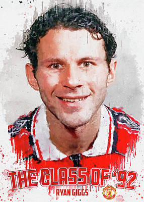 Sports Royalty-Free and Rights-Managed Images - Ryan Giggs is Manchester United The Class of 92 by Gunawan RB